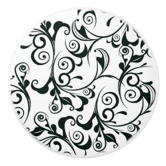 Damask Ceramic Knob