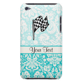 Damask Checkered Flag. iPod Case-Mate Case