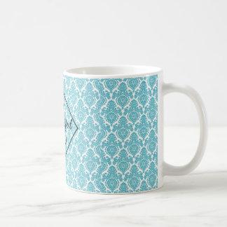 Damask coffee mug