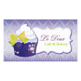 Damask Cupcake Bakery Business Cards