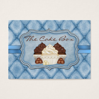Damask Cupcake Chubby Business Card