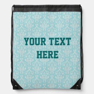 Damask Custom Drawstring Bag
