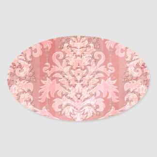 Damask Cut Velvet, Antique Lace Oval Sticker