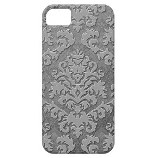 Damask Cut Velvet, Double Damask Monotone in Gray Barely There iPhone 5 Case