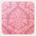 Damask Cut Velvet, Embossed Satin Square Sticker