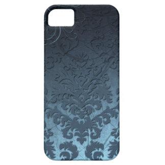 Damask Cut Velvet, Swank Swirls in Blue iPhone 5 Case
