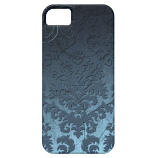 Damask Cut Velvet, Swank Swirls in Blue iPhone 5 Case