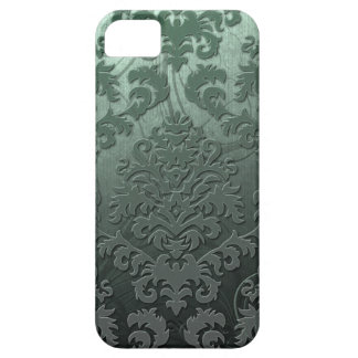 Damask Cut Velvet, Swank Swirls in Sage Green iPhone 5 Case