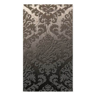 Damask Cut Velvet, Swank Swirls in Taupe Business Card Templates