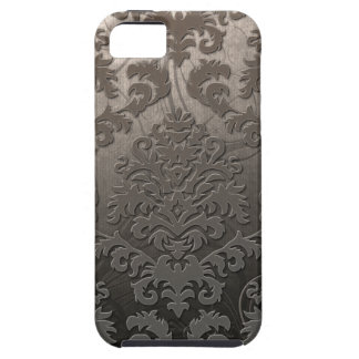 Damask Cut Velvet, Swank Swirls in Taupe iPhone 5 Covers