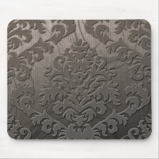 Damask Cut Velvet, Swank Swirls in Taupe Mouse Mat