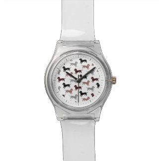 Damask Dachshunds Holiday Pattern Watch