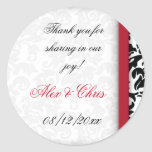 Damask Delight Favour Stickers