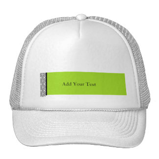 Damask Delight in Lime Green Hats