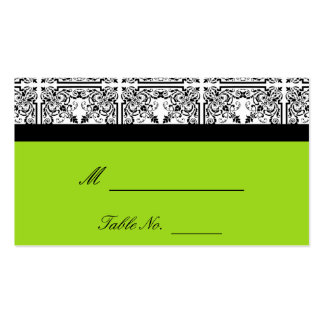 Damask Delight in Lime Green Wedding Place Cards Pack Of Standard Business Cards