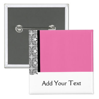 Damask Delight in Pink Manage this category 15 Cm Square Badge