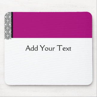 Damask Delight in Purple Mouse Pad