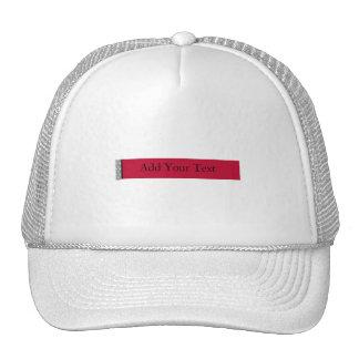 Damask Delight in Scarlet Red Trucker Hats