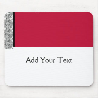 Damask Delight in Scarlet Red Mousepads