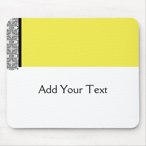 Damask Delight in Yellow Mousepad