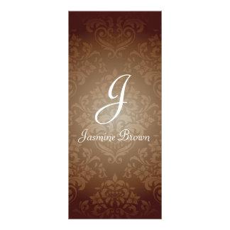 Damask Design Rack Card