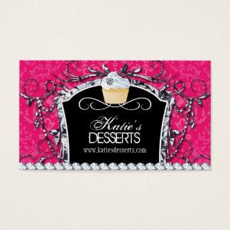Damask Diva Cupcake Bakery Business Card