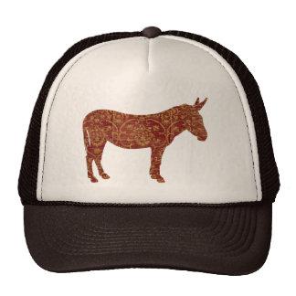 Damask Donkey Silhouette Lid Hat