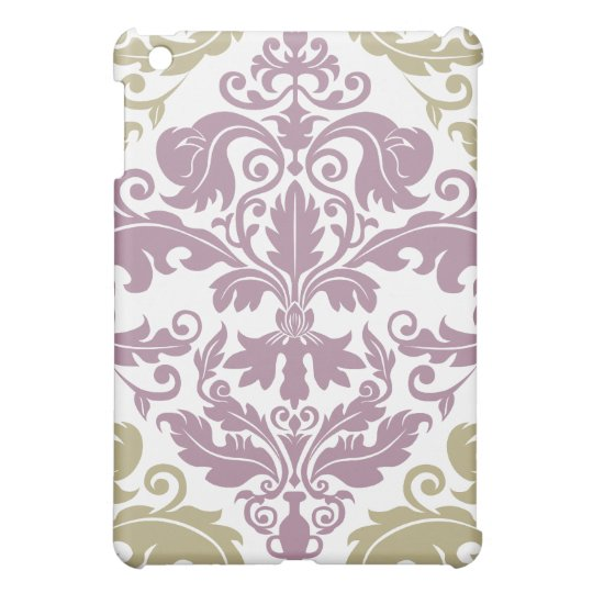 Damask Duo iPad Mini Case - Purple &