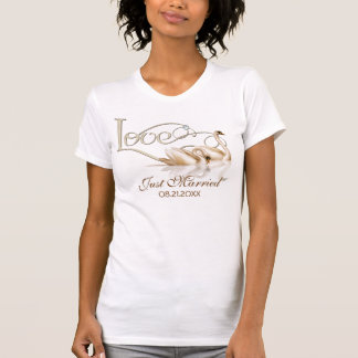 Damask Elegance - Just Married T-Shirt