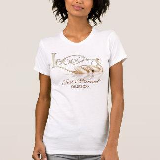 Damask Elegance - Just Married Tshirt