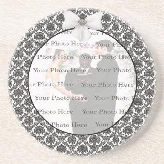 Damask Elegance Wedding Coaster