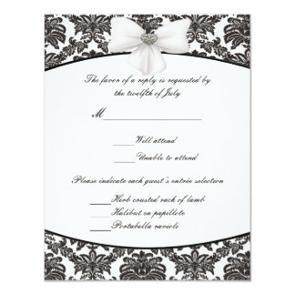 Damask Elegance Wedding Response Cards 11 Cm X 14 Cm Invitation Card