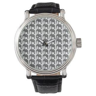 Damask Elephant Pattern Watch