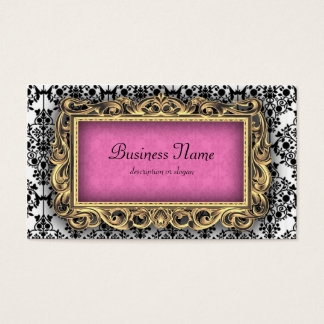 Damask Fancy Pink Baroque Business Cards