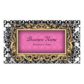 Damask Fancy Pink Baroque Business Cards