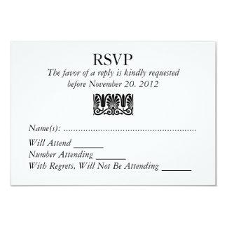 Damask Filigree RSVP Wedding Custom Response Card