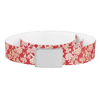 Damask floral background pattern belt