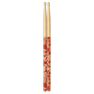 Damask floral background pattern drumsticks