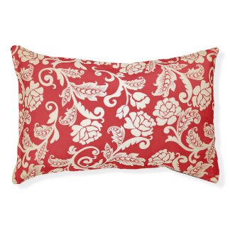 Damask floral background pattern pet bed