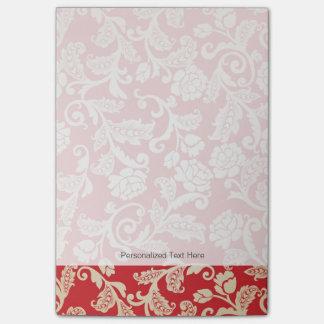 Damask floral background pattern post-it notes