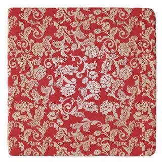 Damask floral background pattern trivet