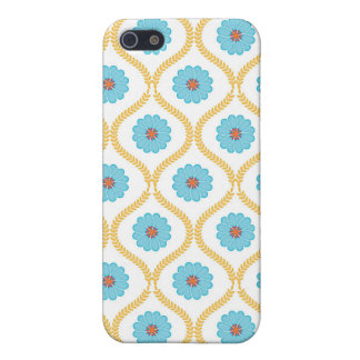 Damask floral mums flower daisy wallpaper pattern iPhone 5/5S covers