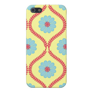 Damask floral mums flower daisy wallpaper pattern iPhone 5 cover