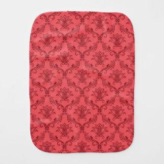 Damask floral pattern burp cloth