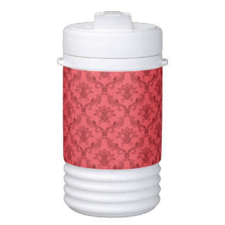 Damask floral pattern drinks cooler