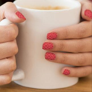 Damask floral pattern minx nail art