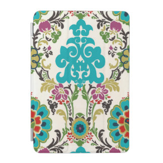 Damask Floral Patterns Plum Turquoise iPad Mini Cover