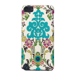 Damask Floral Patterns Plum Turquoise iPod Touch (5th Generation) Covers