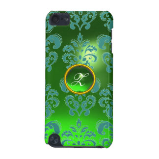 DAMASK GEM MONOGRAM green iPod Touch (5th Generation) Cover