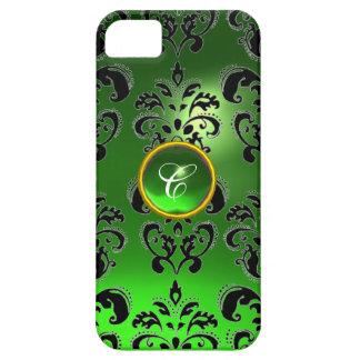 DAMASK GEM MONOGRAM green iPhone 5 Covers